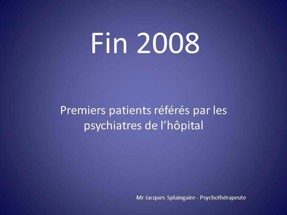 Premiers patients référés par les psychiatres de l'hôpital