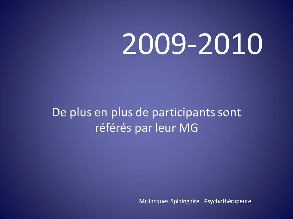 De plus en plus de participants sont référés par leur MG