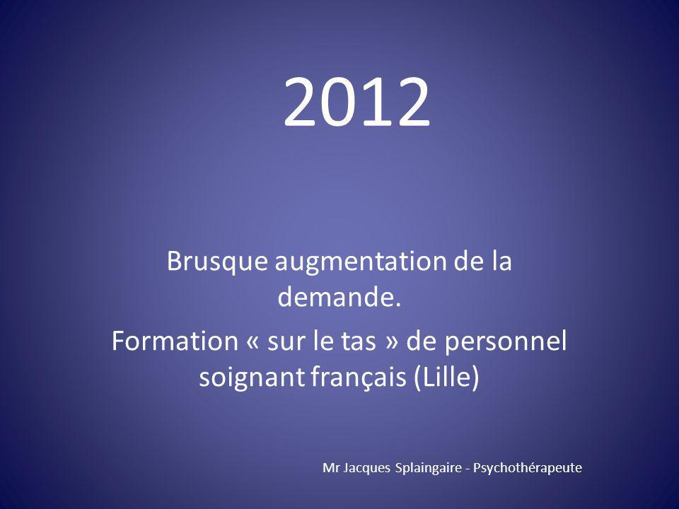 2012 Brusque augmentation de la demande.