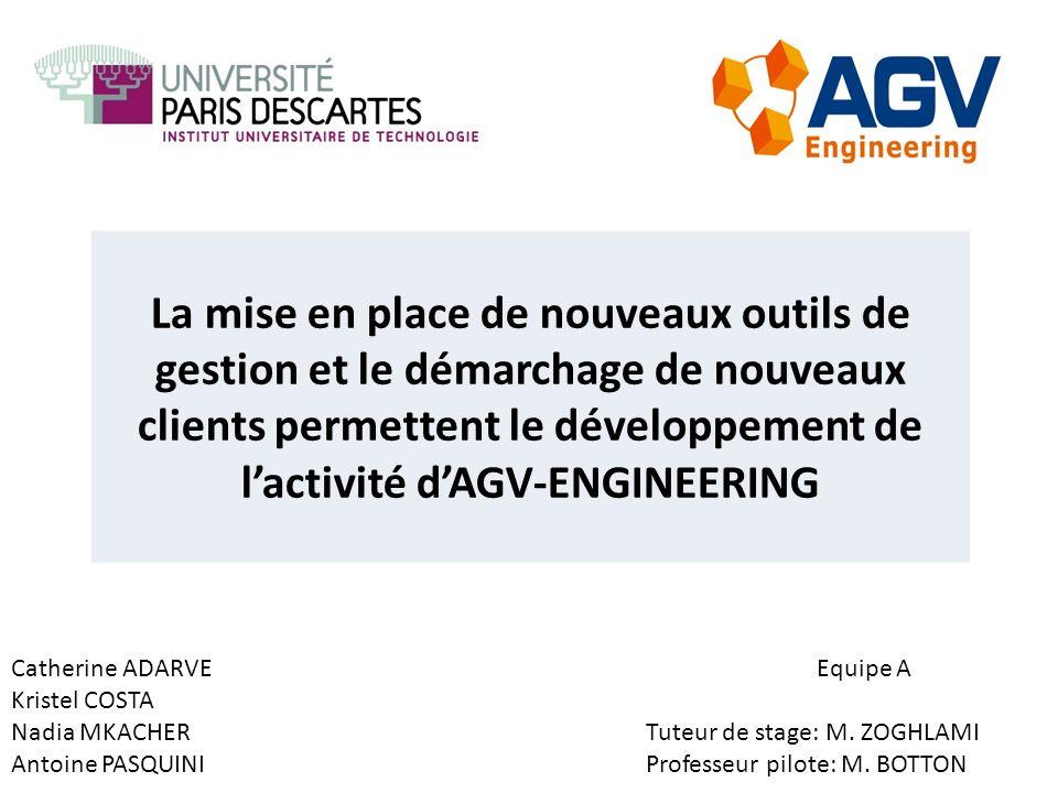 La mise en place de nouveaux outils de gestion et le démarchage de nouveaux clients permettent le développement de l'activité d'AGV-ENGINEERING