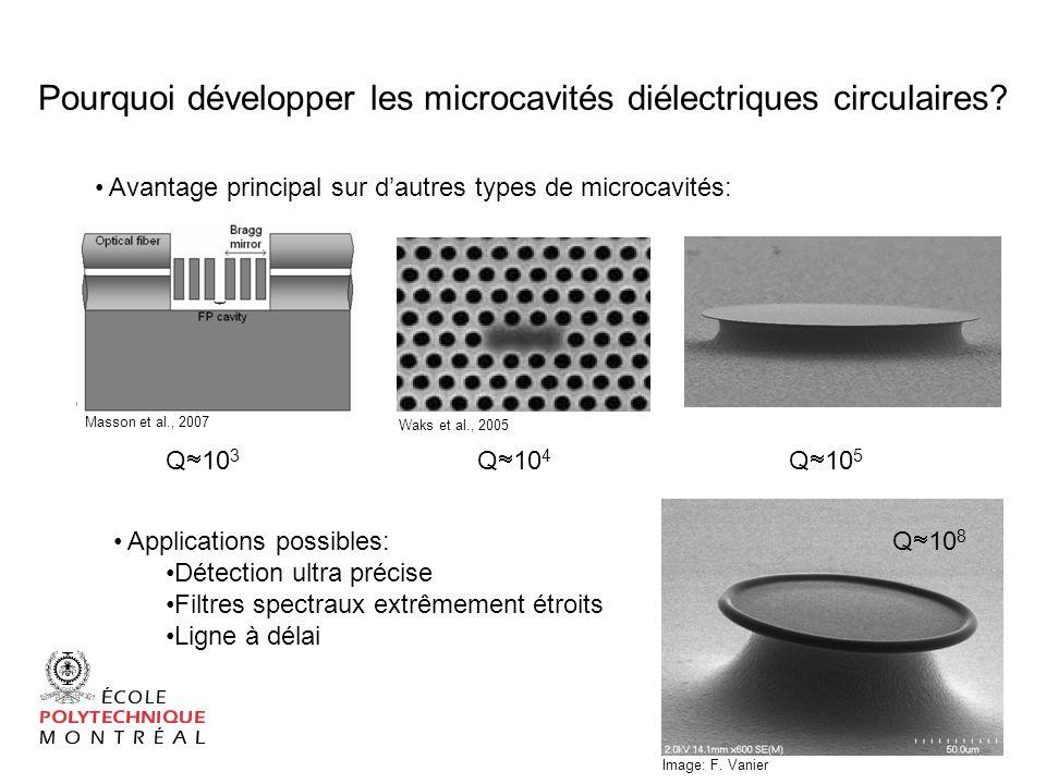 Pourquoi développer les microcavités diélectriques circulaires
