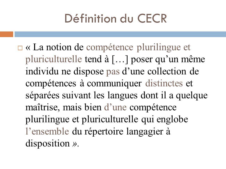 Définition du CECR