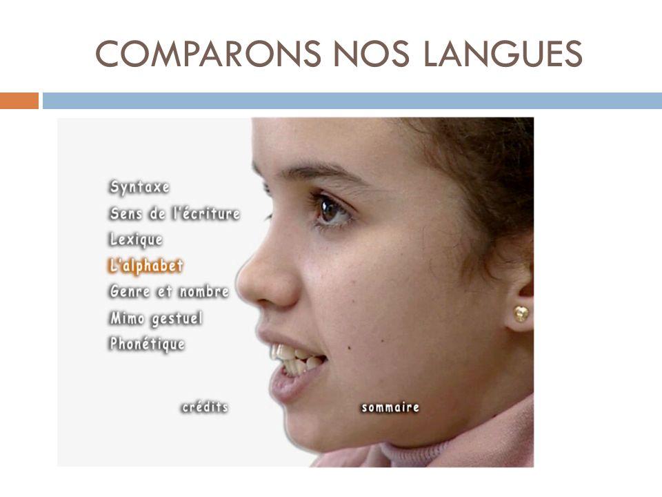 COMPARONS NOS LANGUES