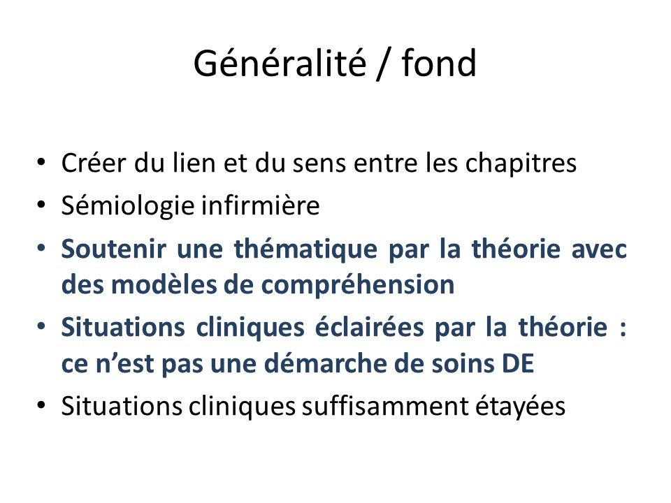 Généralité / fond Créer du lien et du sens entre les chapitres