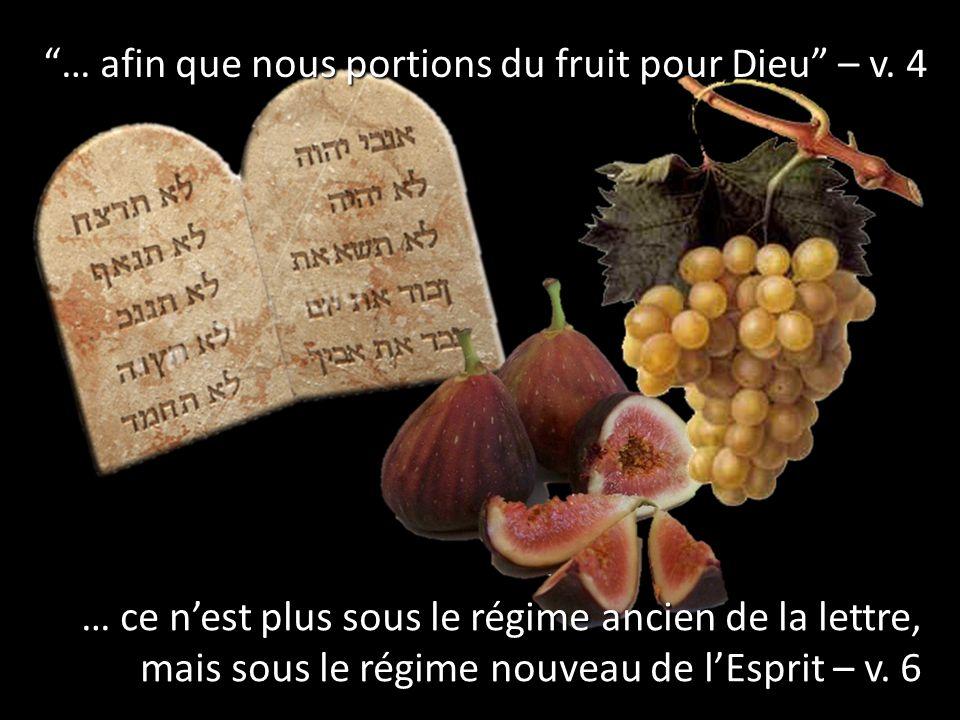 … afin que nous portions du fruit pour Dieu – v. 4