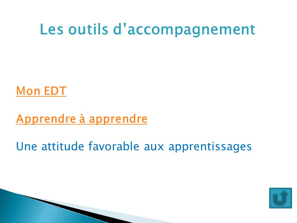 Les outils d'accompagnement