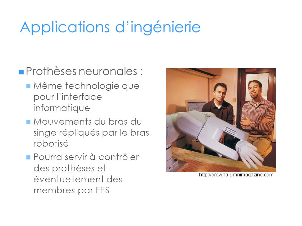 Applications d'ingénierie