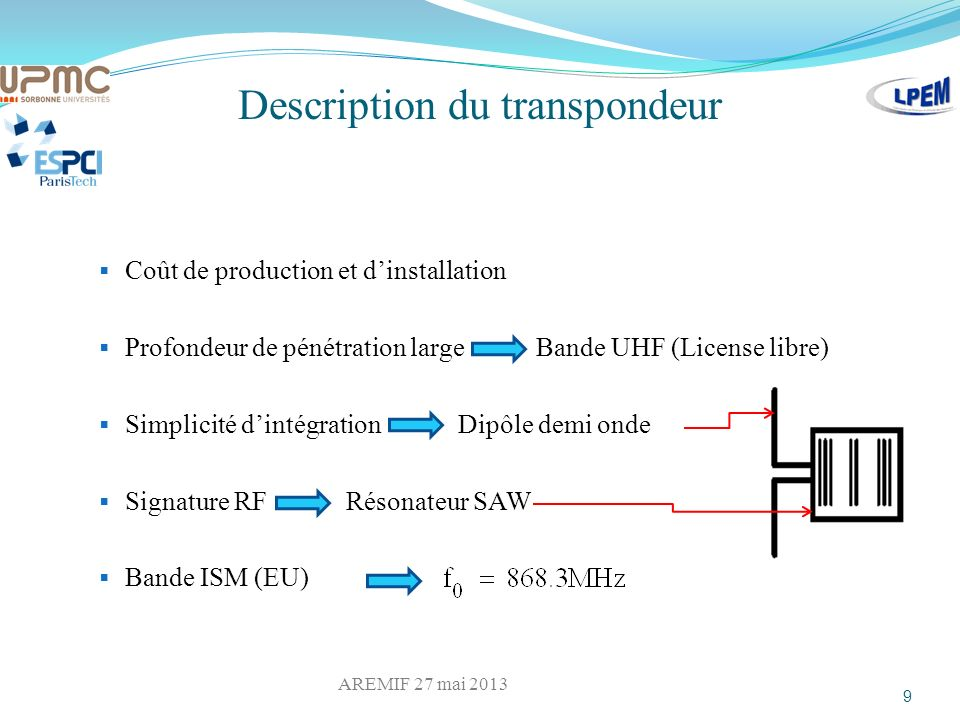 Description du transpondeur