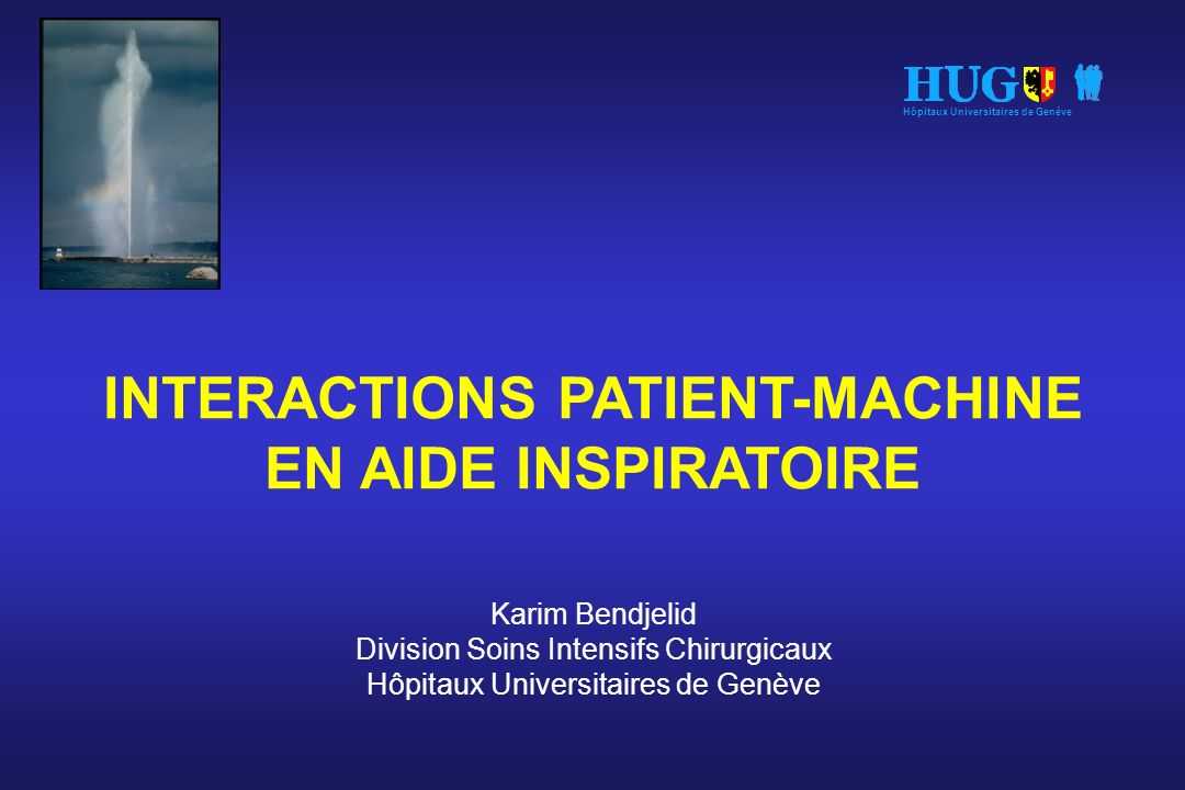 INTERACTIONS PATIENT-MACHINE