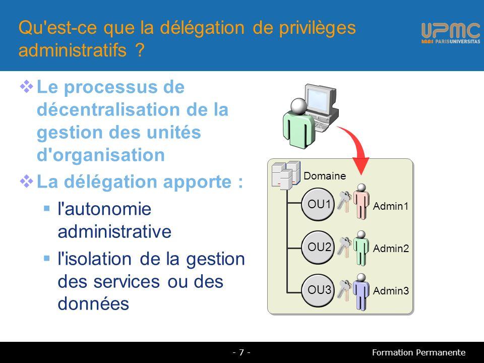 Qu est-ce que la délégation de privilèges administratifs