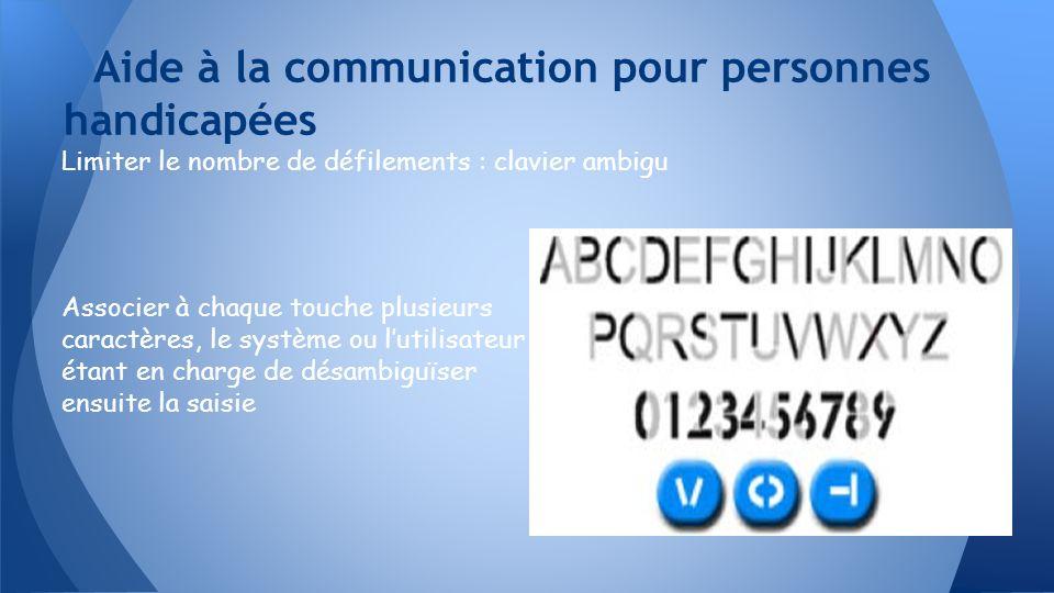 Aide à la communication pour personnes handicapées