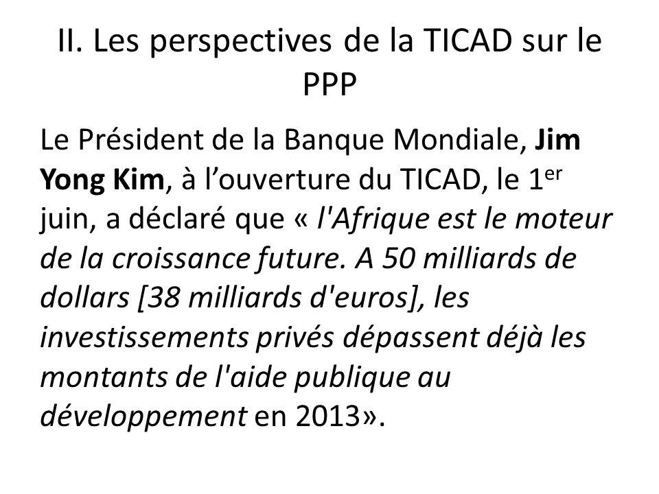 II. Les perspectives de la TICAD sur le PPP