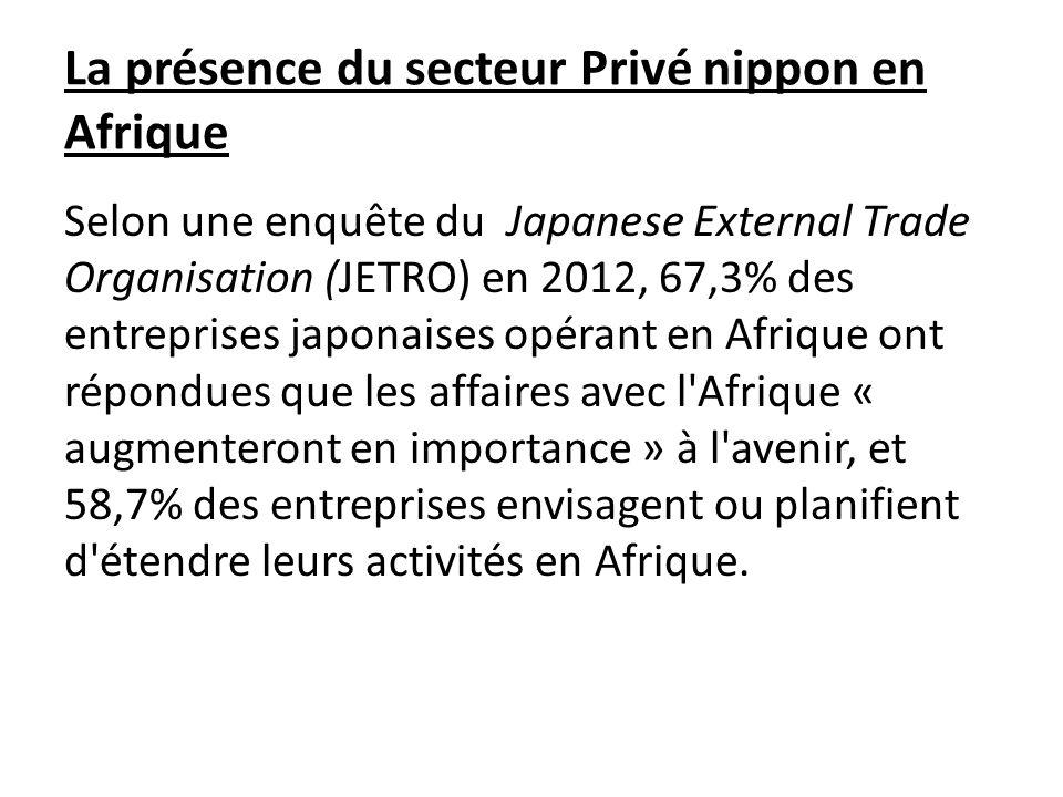 La présence du secteur Privé nippon en Afrique