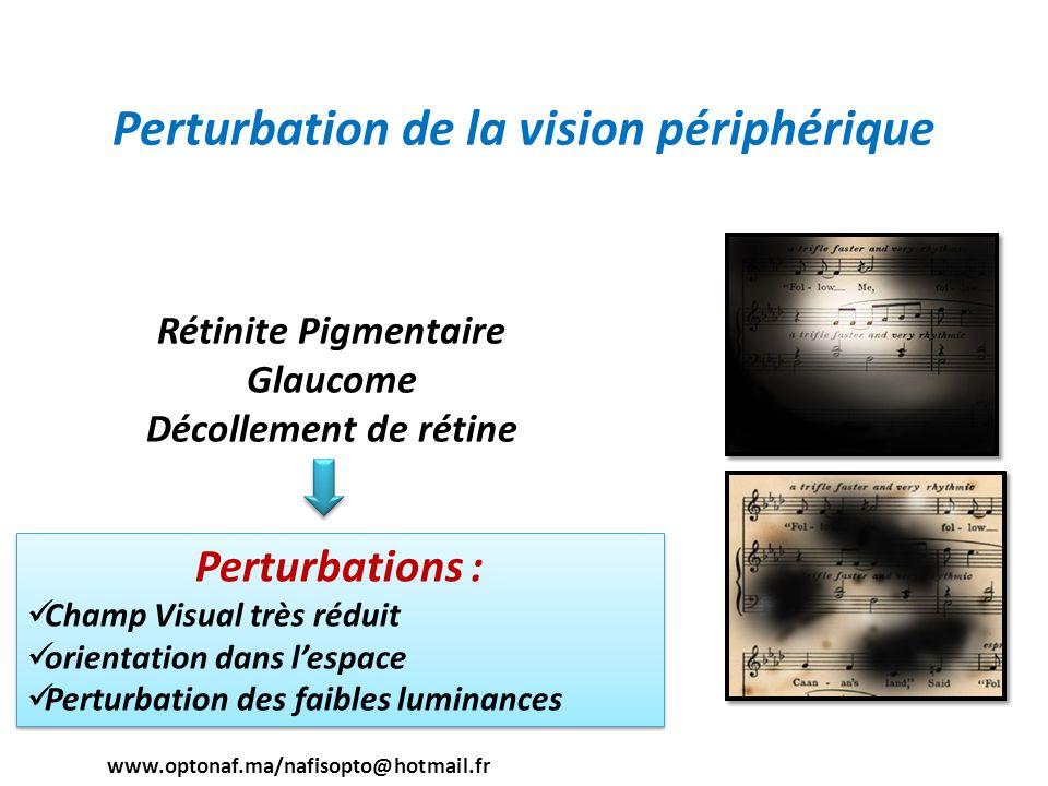 Perturbation de la vision périphérique