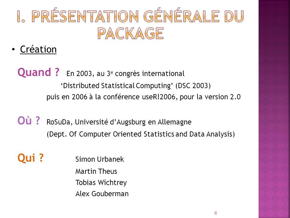 I. Présentation générale du package