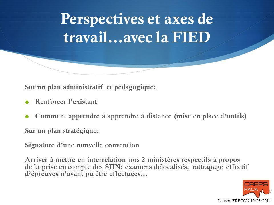 Perspectives et axes de travail…avec la FIED