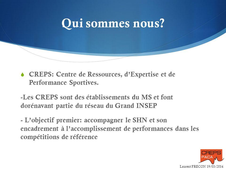 Qui sommes nous CREPS: Centre de Ressources, d'Expertise et de Performance Sportives.