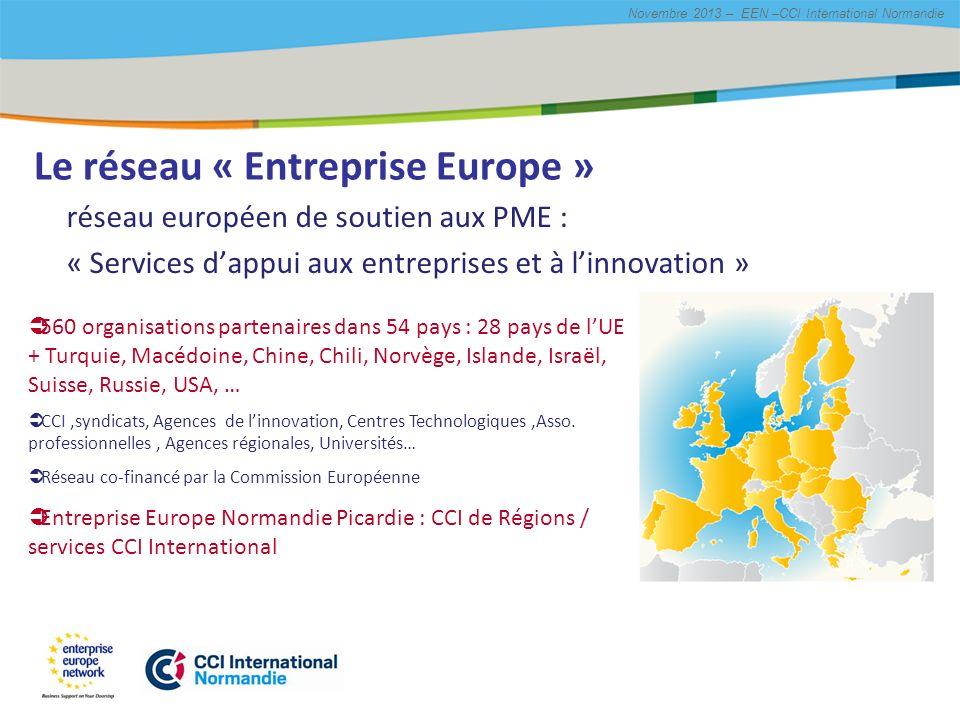 Le réseau « Entreprise Europe »