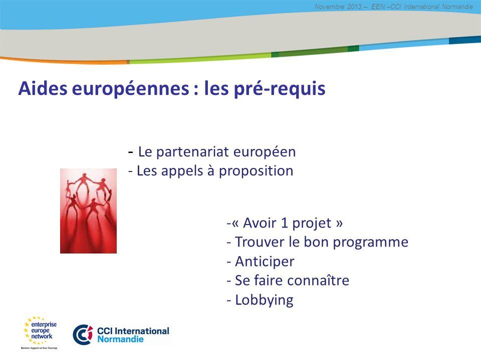 Aides européennes : les pré-requis