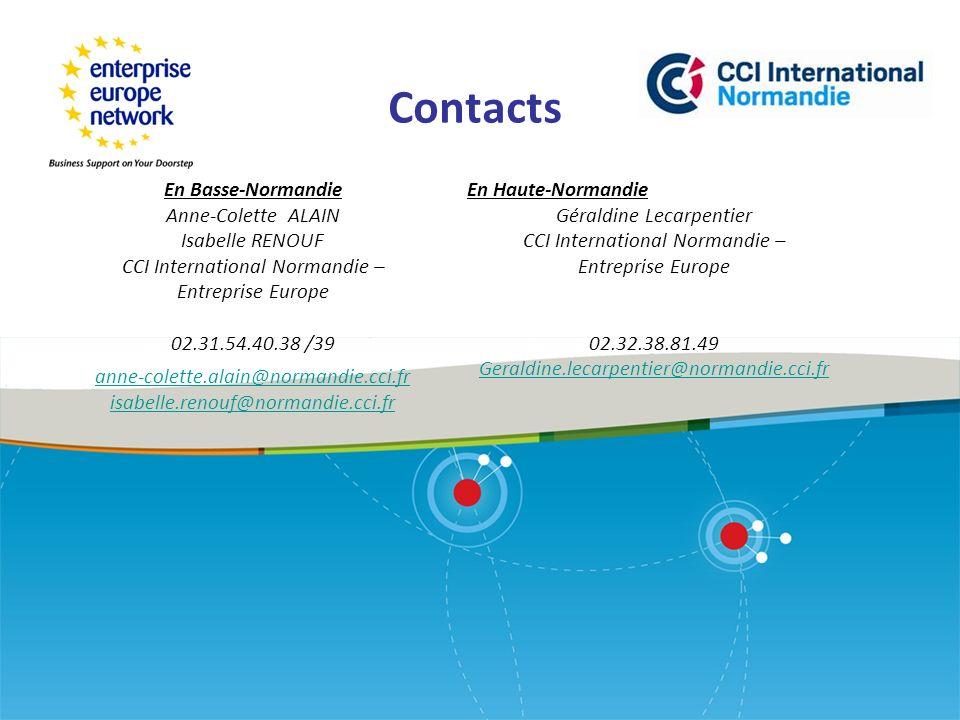 Contacts En Basse-Normandie Anne-Colette ALAIN Isabelle RENOUF
