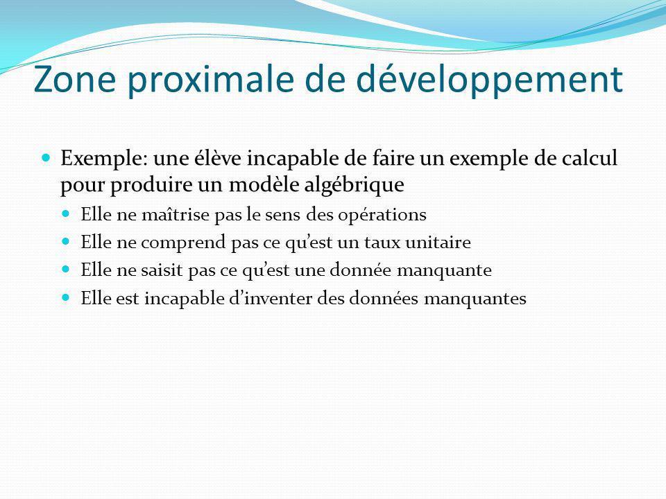 Zone proximale de développement