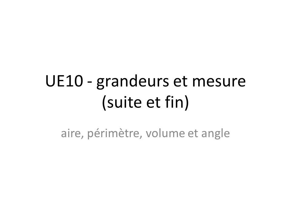 UE10 - grandeurs et mesure (suite et fin)