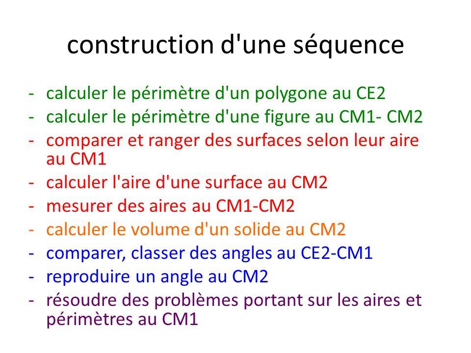 construction d une séquence