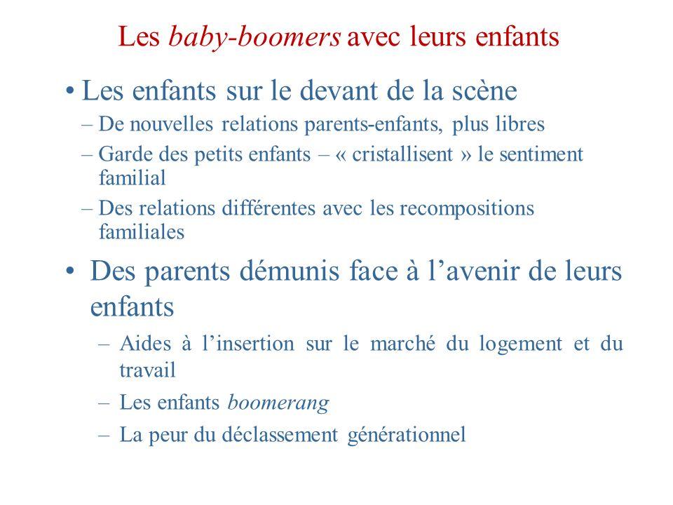 Les baby-boomers avec leurs enfants