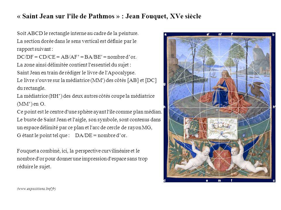 « Saint Jean sur l île de Pathmos » : Jean Fouquet, XVe siècle