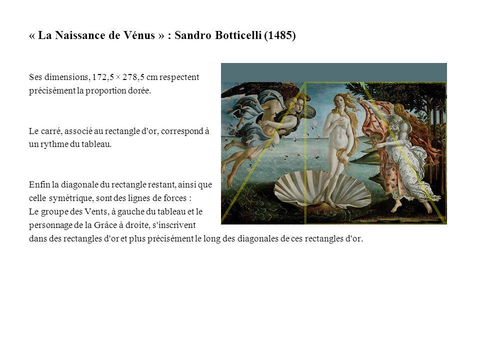« La Naissance de Vénus » : Sandro Botticelli (1485)