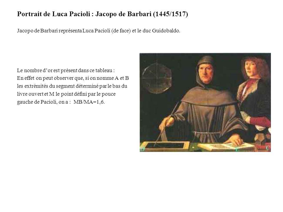 Portrait de Luca Pacioli : Jacopo de Barbari (1445/1517)