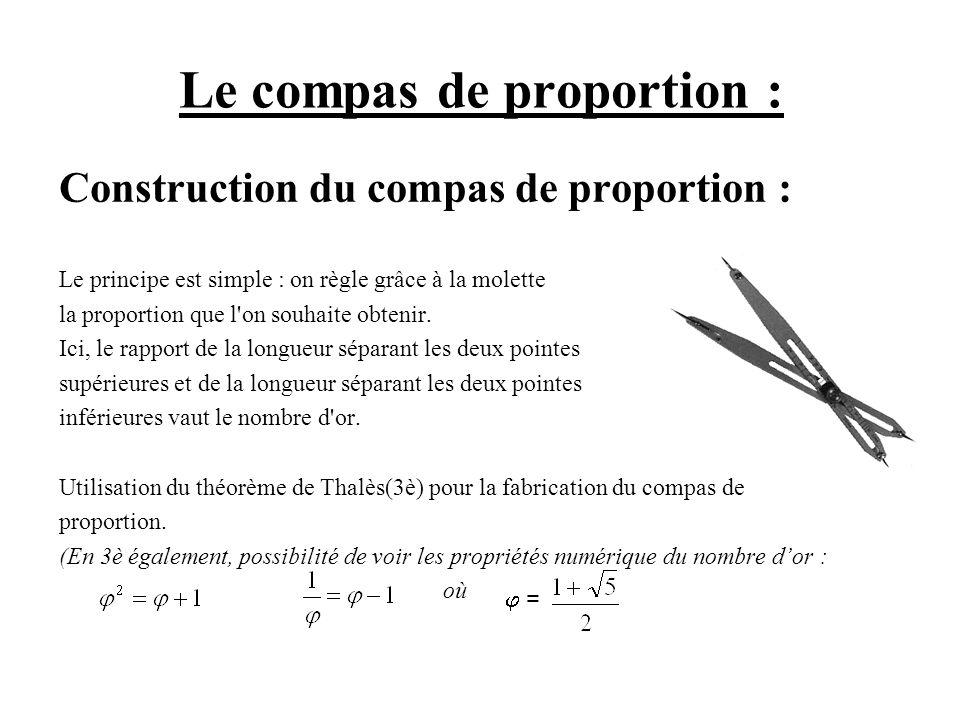 Le compas de proportion :