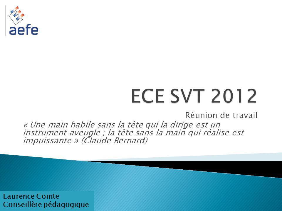 ECE SVT 2012 Réunion de travail