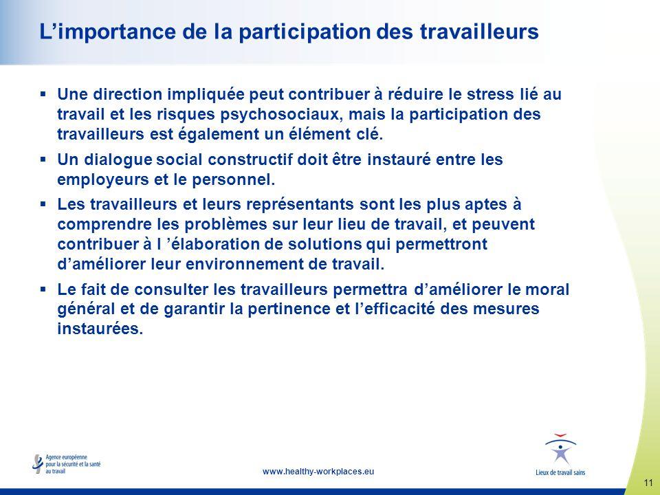 L'importance de la participation des travailleurs