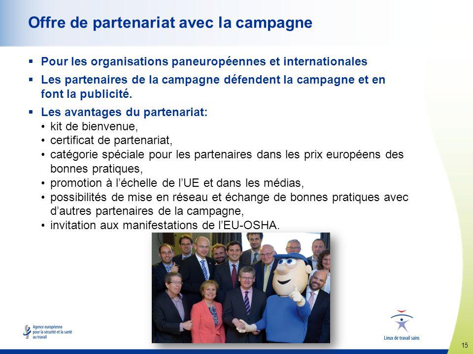 Offre de partenariat avec la campagne
