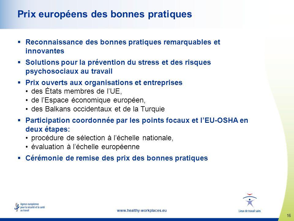 Prix européens des bonnes pratiques