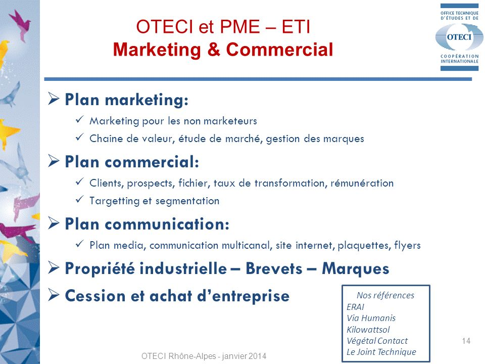 OTECI et PME – ETI Marketing & Commercial