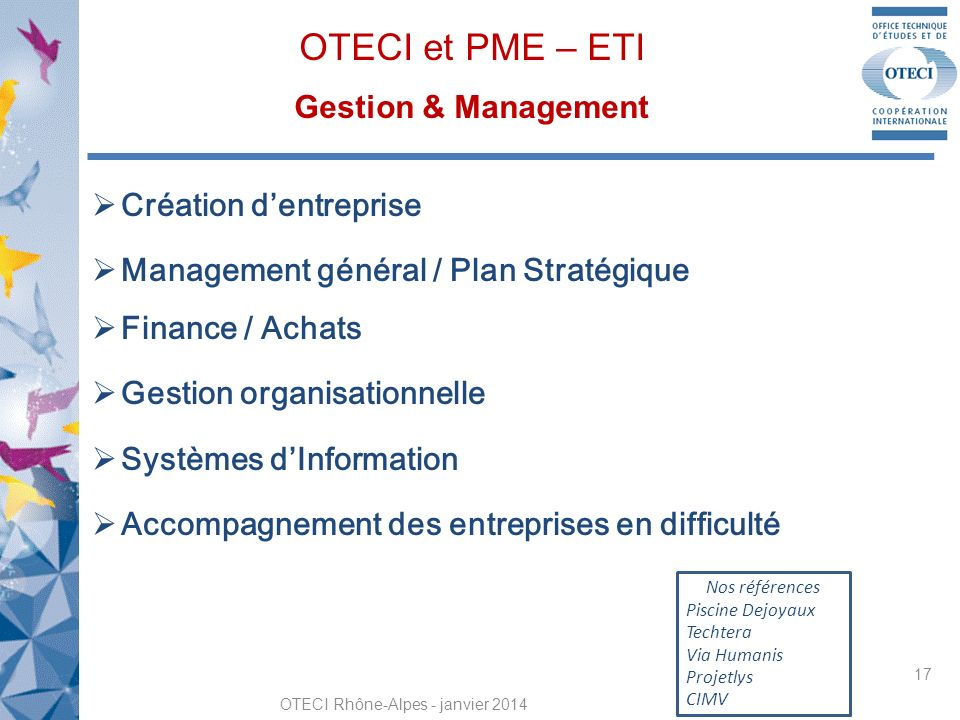 OTECI et PME – ETI Gestion & Management