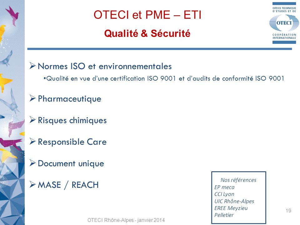 OTECI et PME – ETI Qualité & Sécurité
