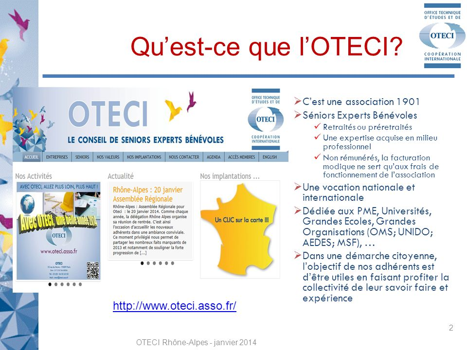 OTECI Rhône-Alpes - janvier 2014