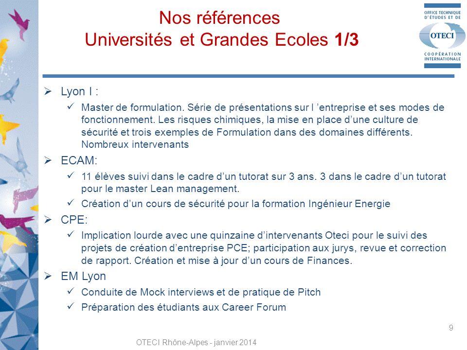 Nos références Universités et Grandes Ecoles 1/3