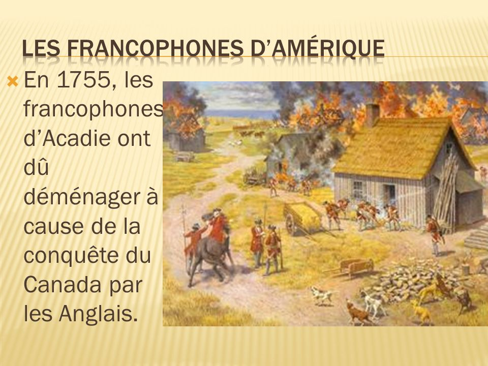 Les francophones d'Amérique