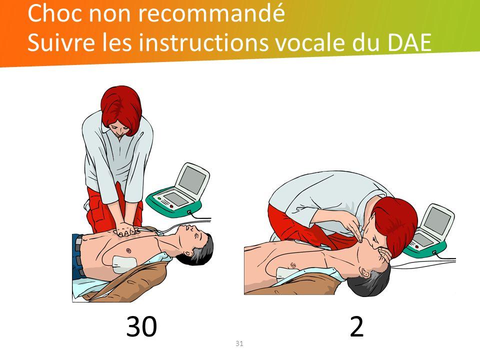 Suivre les instructions vocale du DAE
