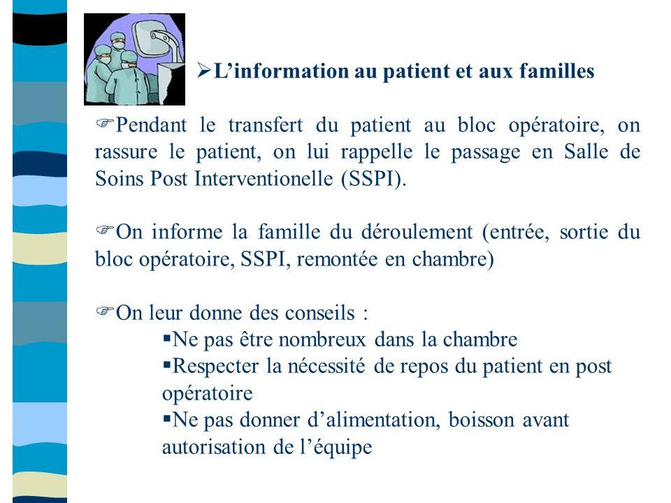 L'information au patient et aux familles