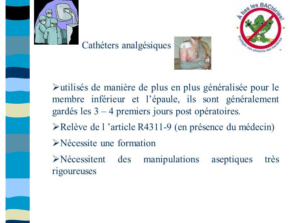 Cathéters analgésiques