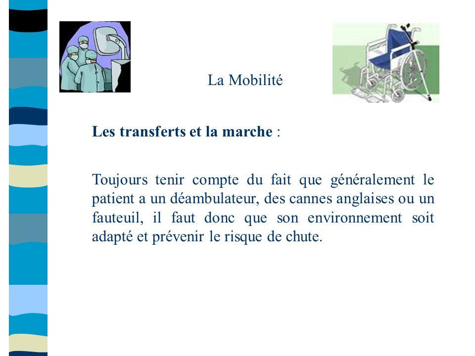 La Mobilité Les transferts et la marche :