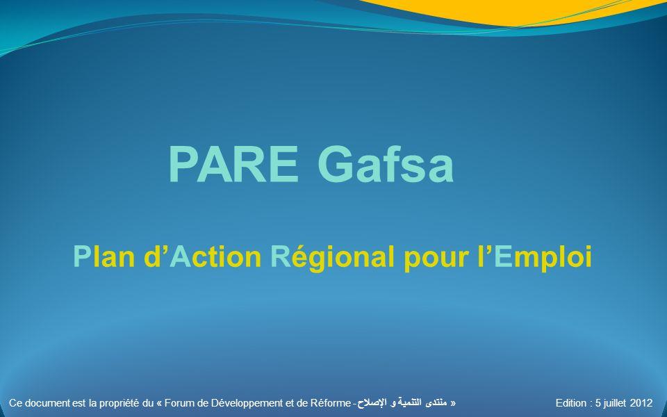 PARE Gafsa Plan d'Action Régional pour l'Emploi 1