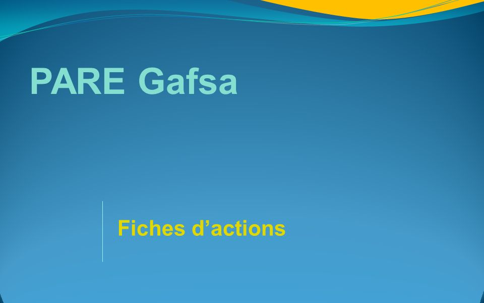 PARE Gafsa Fiches d'actions 37
