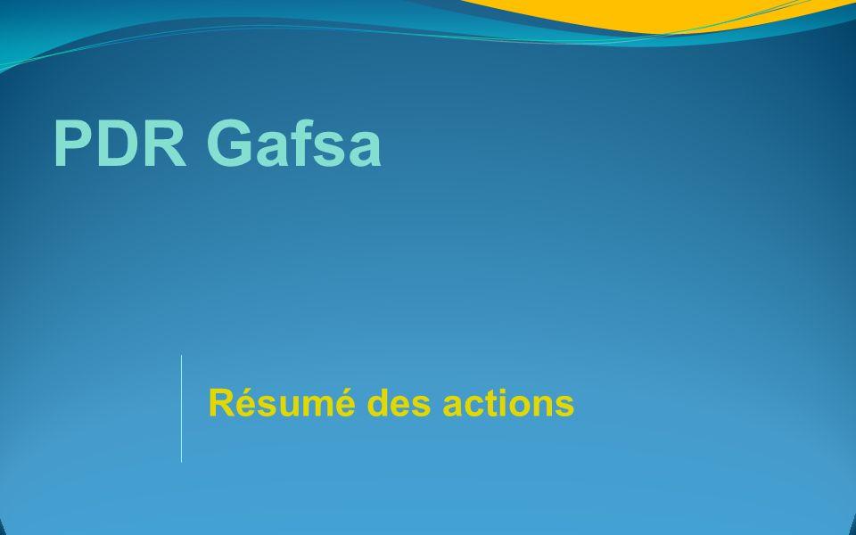 PDR Gafsa Résumé des actions 5