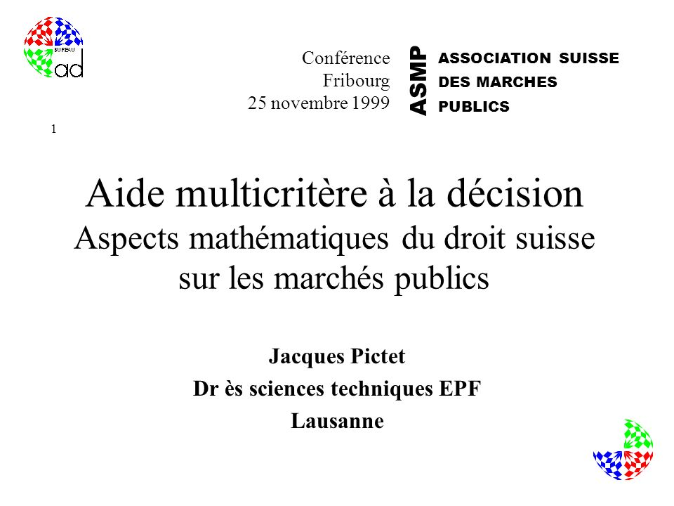 Jacques Pictet Dr ès sciences techniques EPF Lausanne